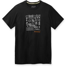 Smartwool Merino Sport 150 Skjorte Park Vibes-grafik Herrer, sort